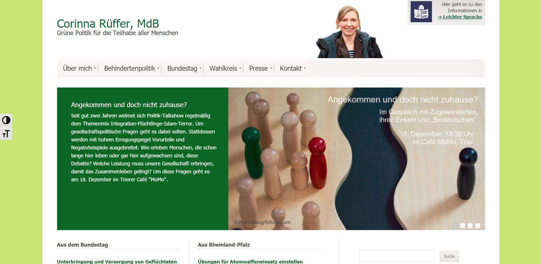 Abgeordneten-Homepage für Corinna Rüffer